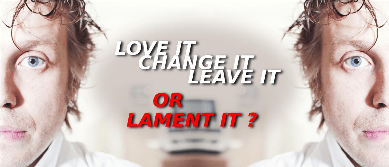 love it - change it - leave it