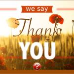 Ein Danke für Dich...